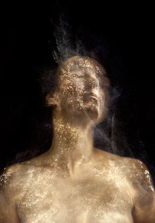 Light painting with fiber optic cable applied directly to skin